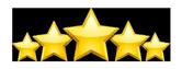 five stars, excellent