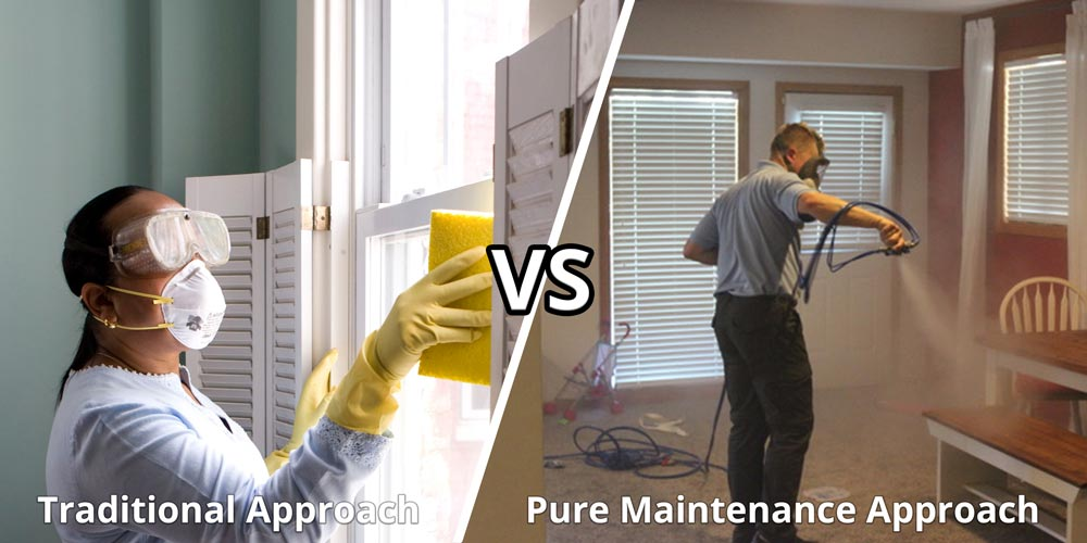 How Pure Maintenance disinfection process is different from wiping